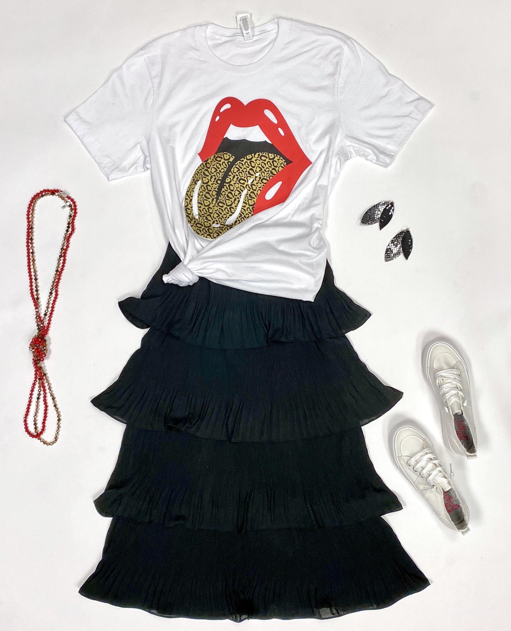 """Leopard Rolling Stones"" T-shirt"