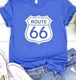 "Heathered Blue ""Route 66"" T-shirt"