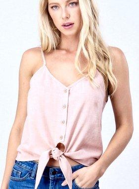 Pink Cami Tie Top