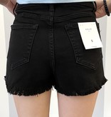 Black distressed Cutoff Shorts