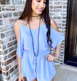 Baby Blue Cold Shoulder Romper