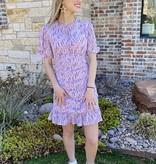 Pink Mini Flounce Hem Dress