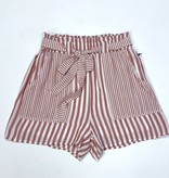 Red Striped Lightweight Shorts