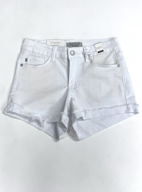 Judy Blue White Raw Hem Shorts