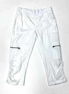 White Nadia Crop Pants