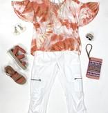 White Nadia Crop Pants