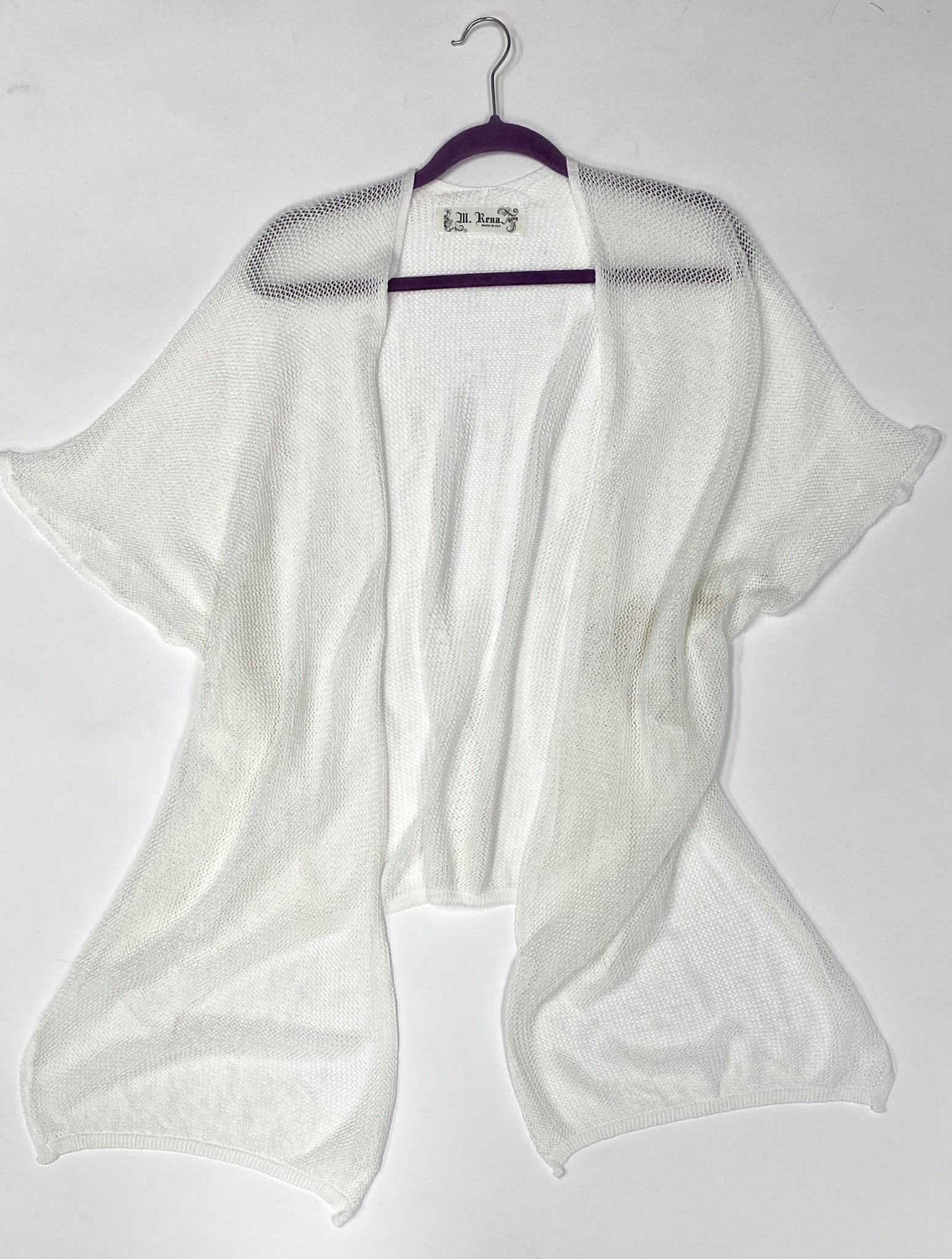 Off White Mesh Poncho Kimono