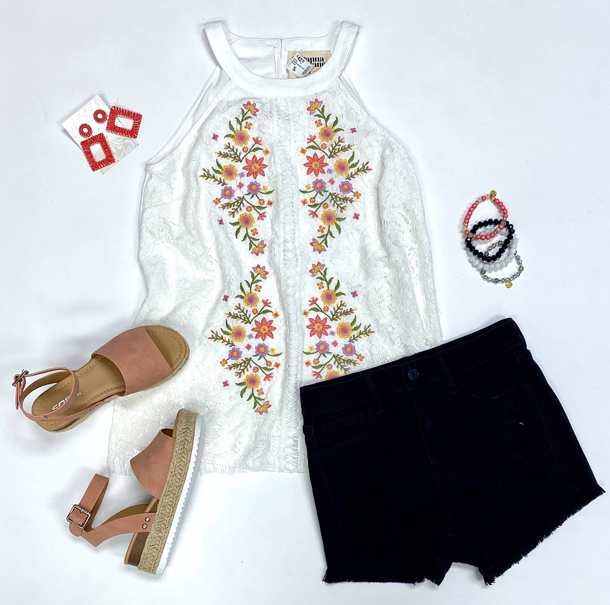 Ivory Embroidered Top