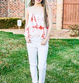 Red Tie Dyed Cami Top