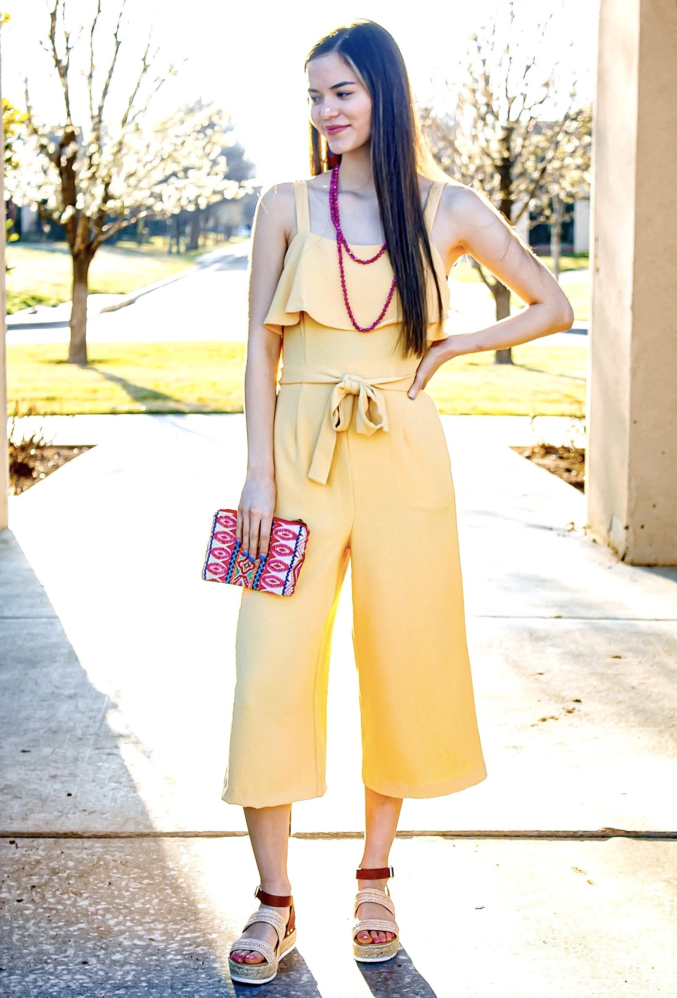 Butter Yellow Bow Jumpsuit