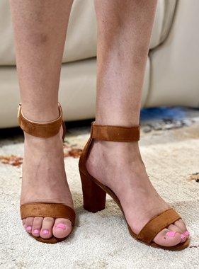 Tan Suede Strappy Heel