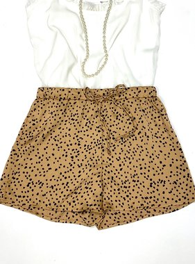 Mocha Leopard Satin Shorts