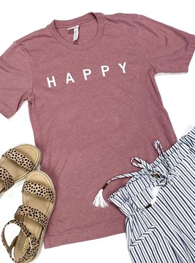 "Mauve ""HAPPY"" T-Shirt"