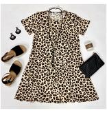 Leopard Print Pocket T-Shirt Dress