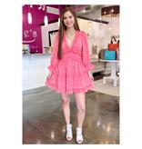 Bubble Pink Keyhole Back Dress