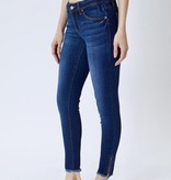 KanCan Dark Wash Zipper Hem Jeans