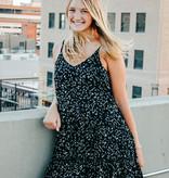 Black Cami Printed Dress