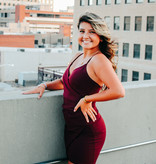 Burgandy wrap body con