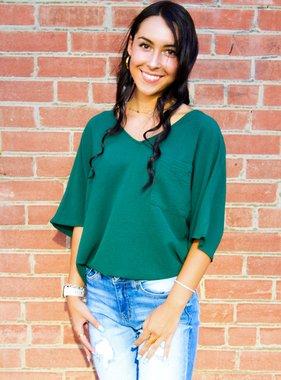 Green SS Woven Top