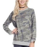 Grey/Camo Sweater Top
