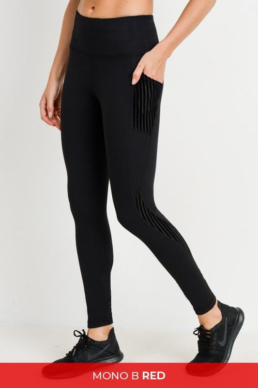 Black Burnout Highwaisted Leggings