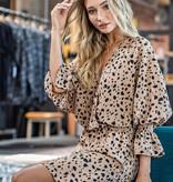 Coco Mix Animal Wrap LS Dress