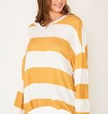 Cozy Nights Mustard Striped Top