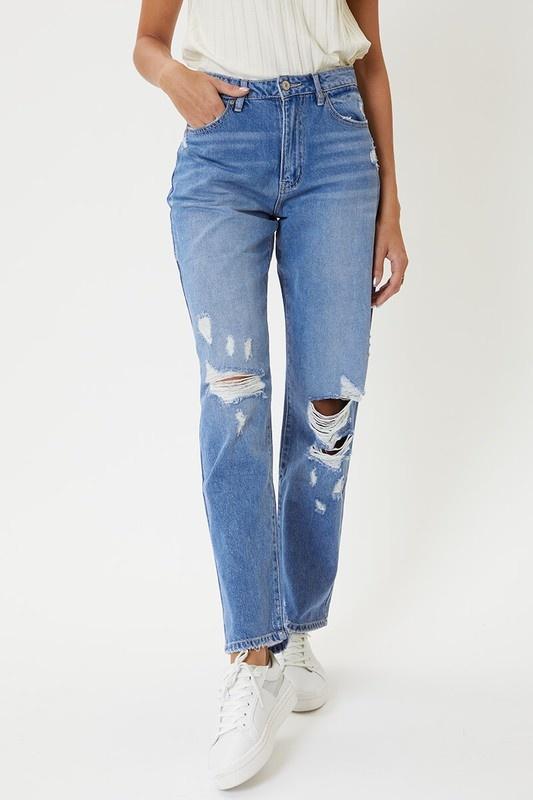KanCan Light Wash 90s Boyfriend Jeans