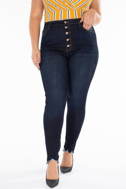 Plus Size High Rise Skinney Jeans