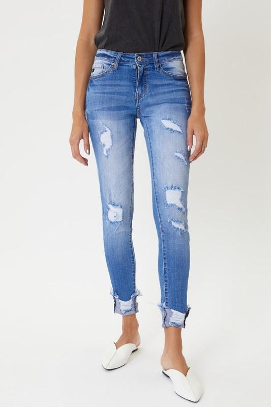 KanCan Light Wash Distressed Skinny Jeans