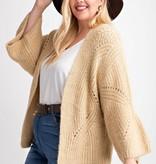 Soft yarn cardigan