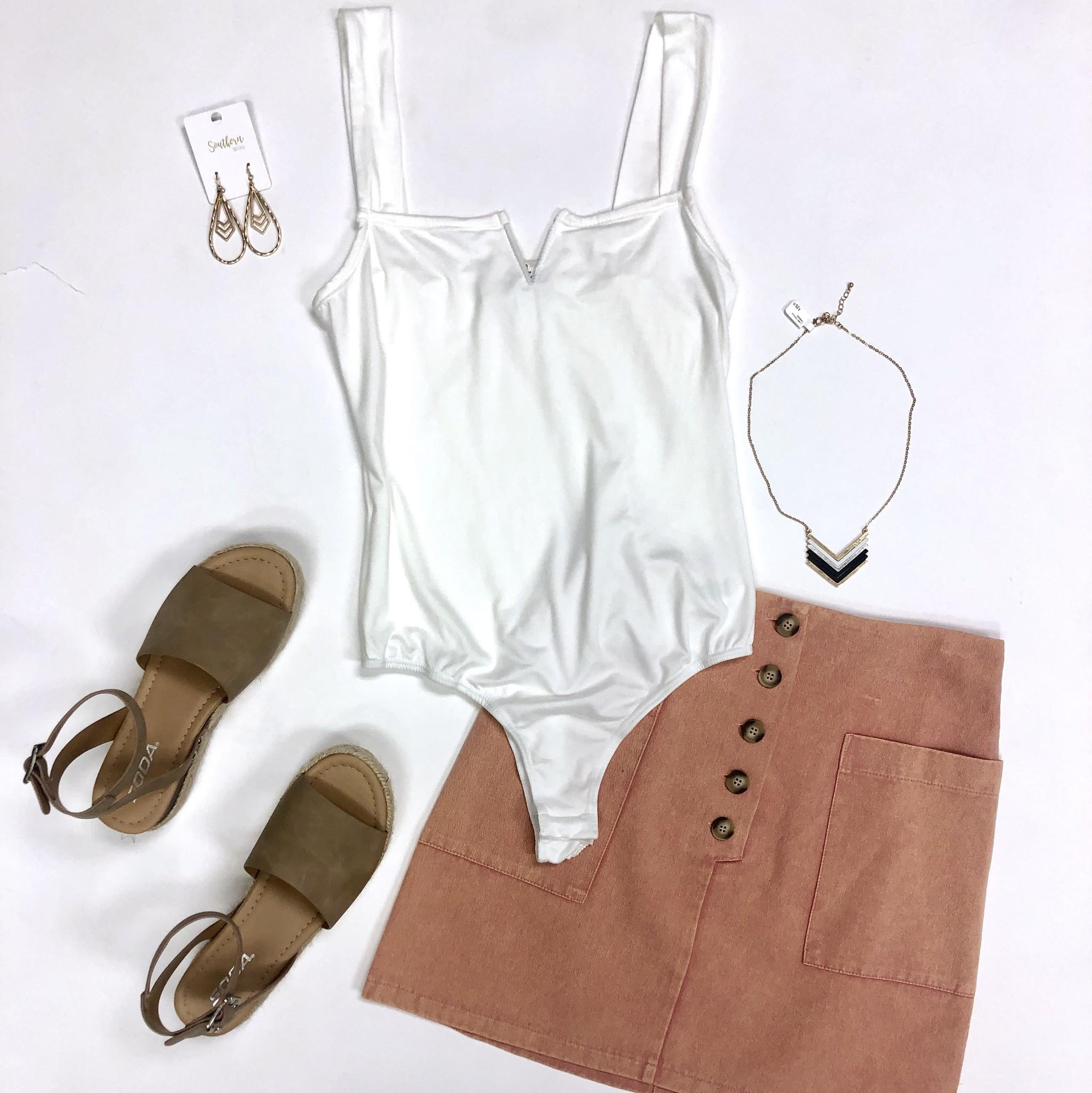 Off White V Bodysuit