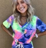 Summer Tie Dye lounge set ss top