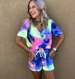 Summer Tie Dye louge shorts