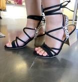 Lila Black Cheetah Wrap Heel