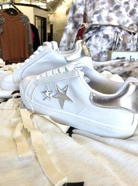 Wanderer White/Silver Sneaker