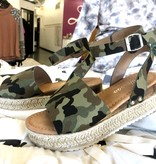 Camo Platform with Ankle Strap