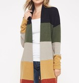 Navy/Olive Plus LS Cardigan