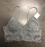 Christin Bralette Light Gray