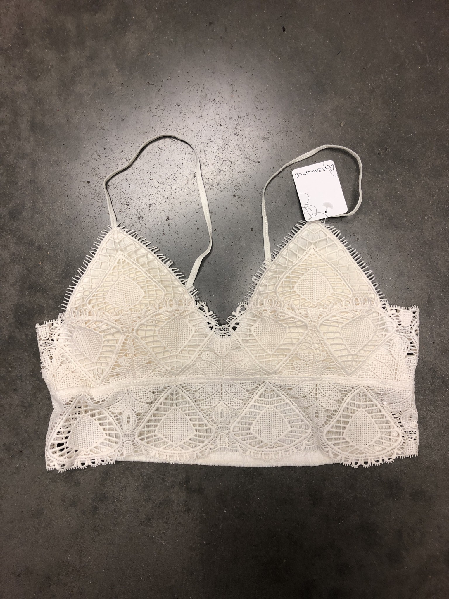 Christin Bralette Off White