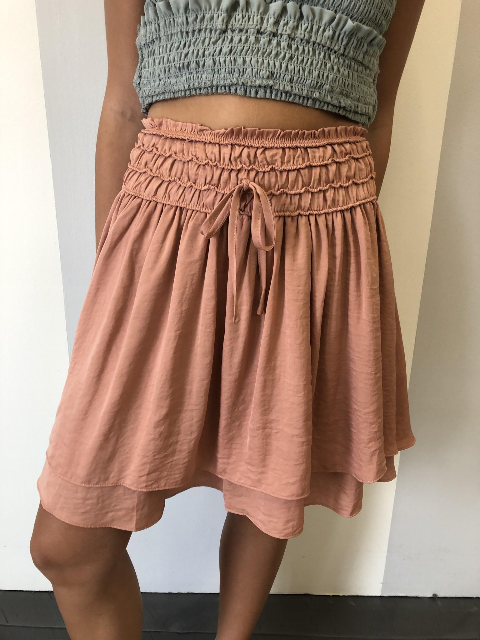 Dusty Peach Ruffle Skirt