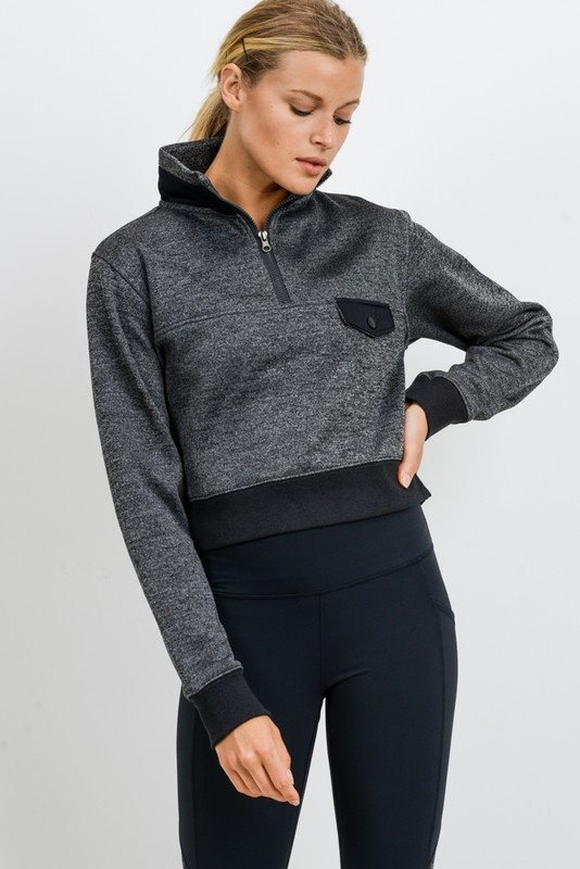 2tone cropped pullover