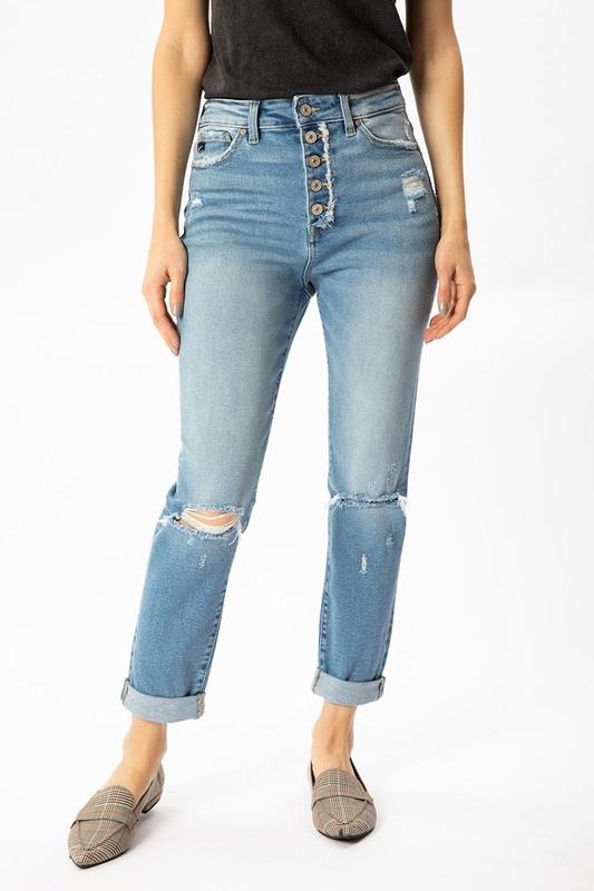 KanCan Light Wash Button Up Jeans