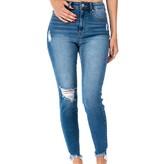 KanCan Med. Wash Single Knee Distressed Jeans