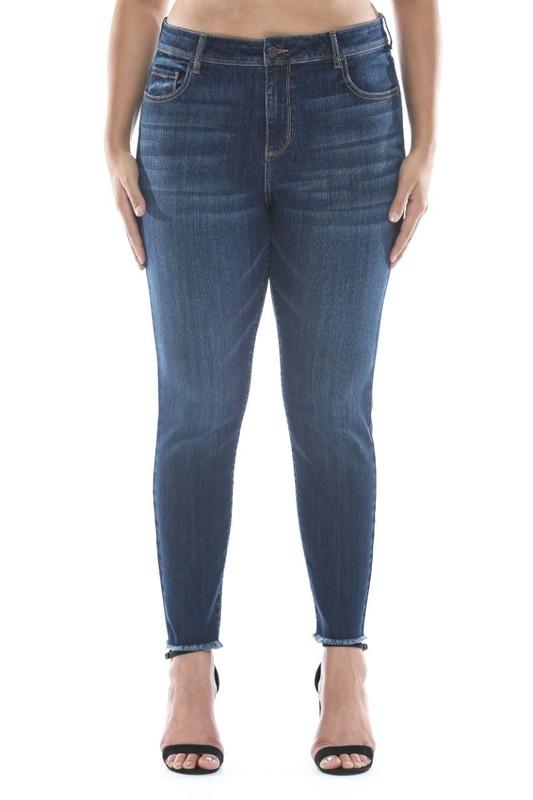 Cello Dark Wash Plus Size Jeans