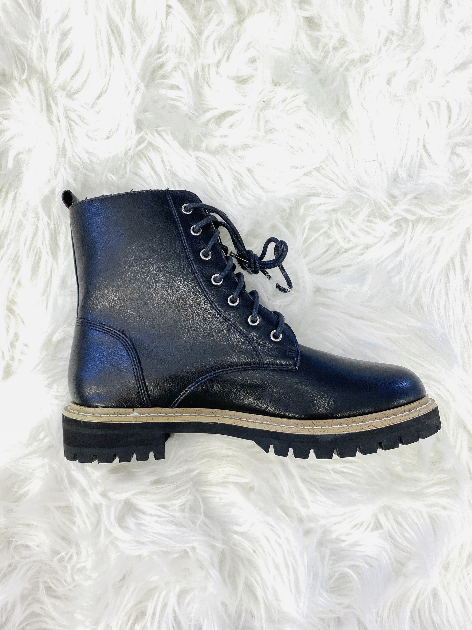 Drue Black Combat Boot