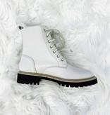 Drue White Combat Boot
