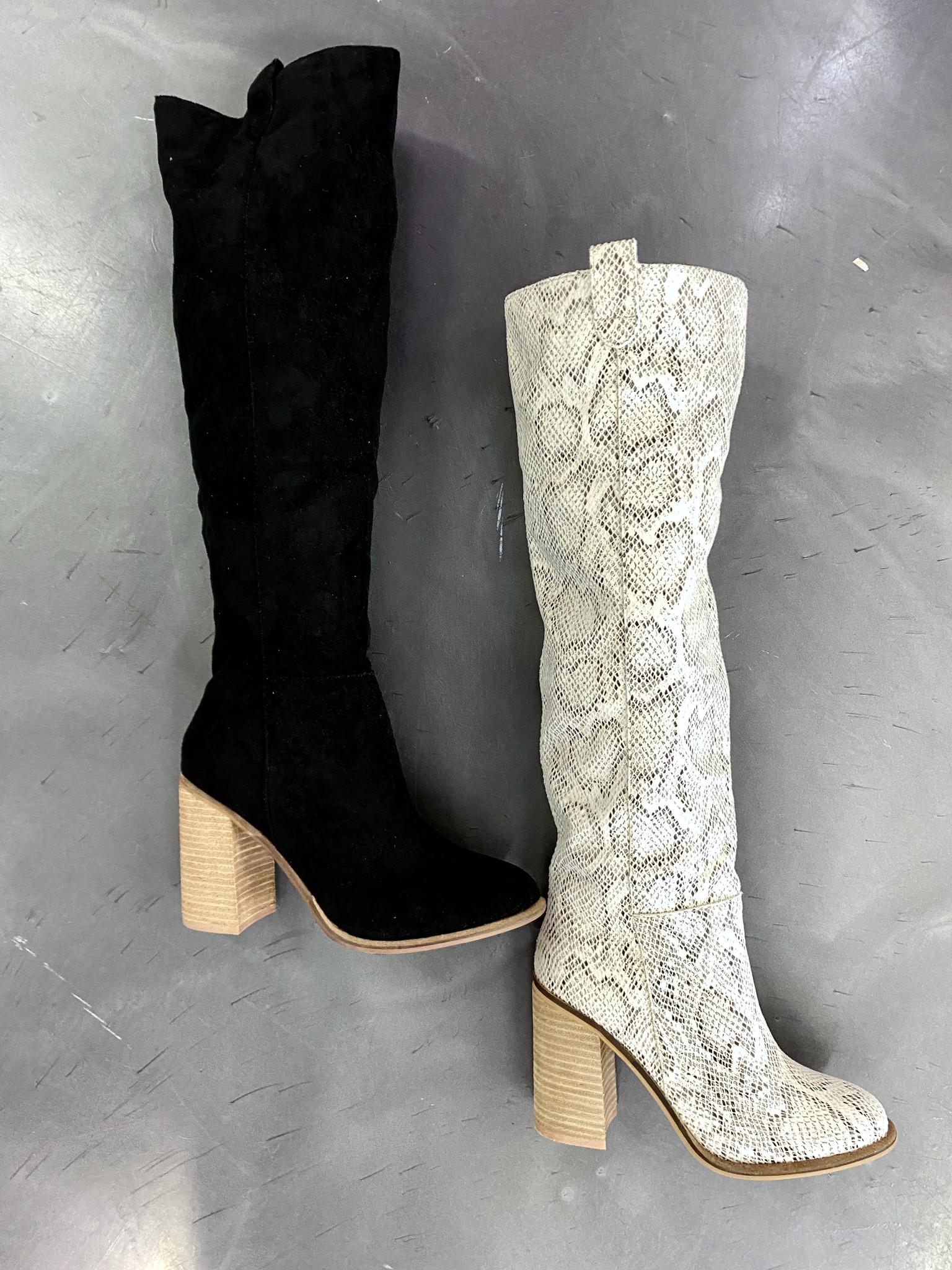 Saint Black Knee High Boot