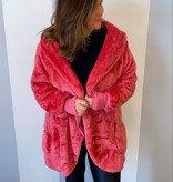Rose Oversized Fur Jacket Plus Size