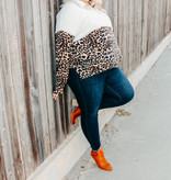 Ivory Leopard Plus Sherpa Pullover